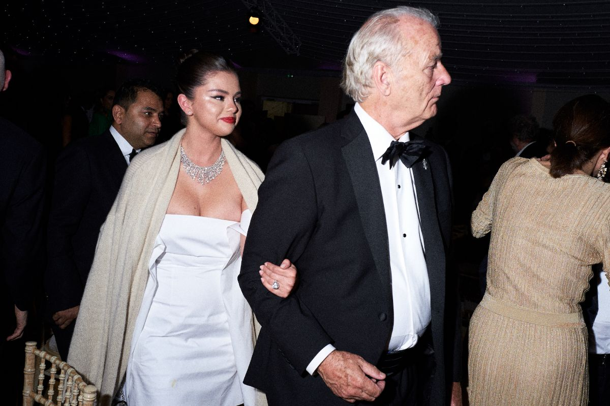Selena Gomez and Bill Murray at the opening dinner of the festival de Cannes