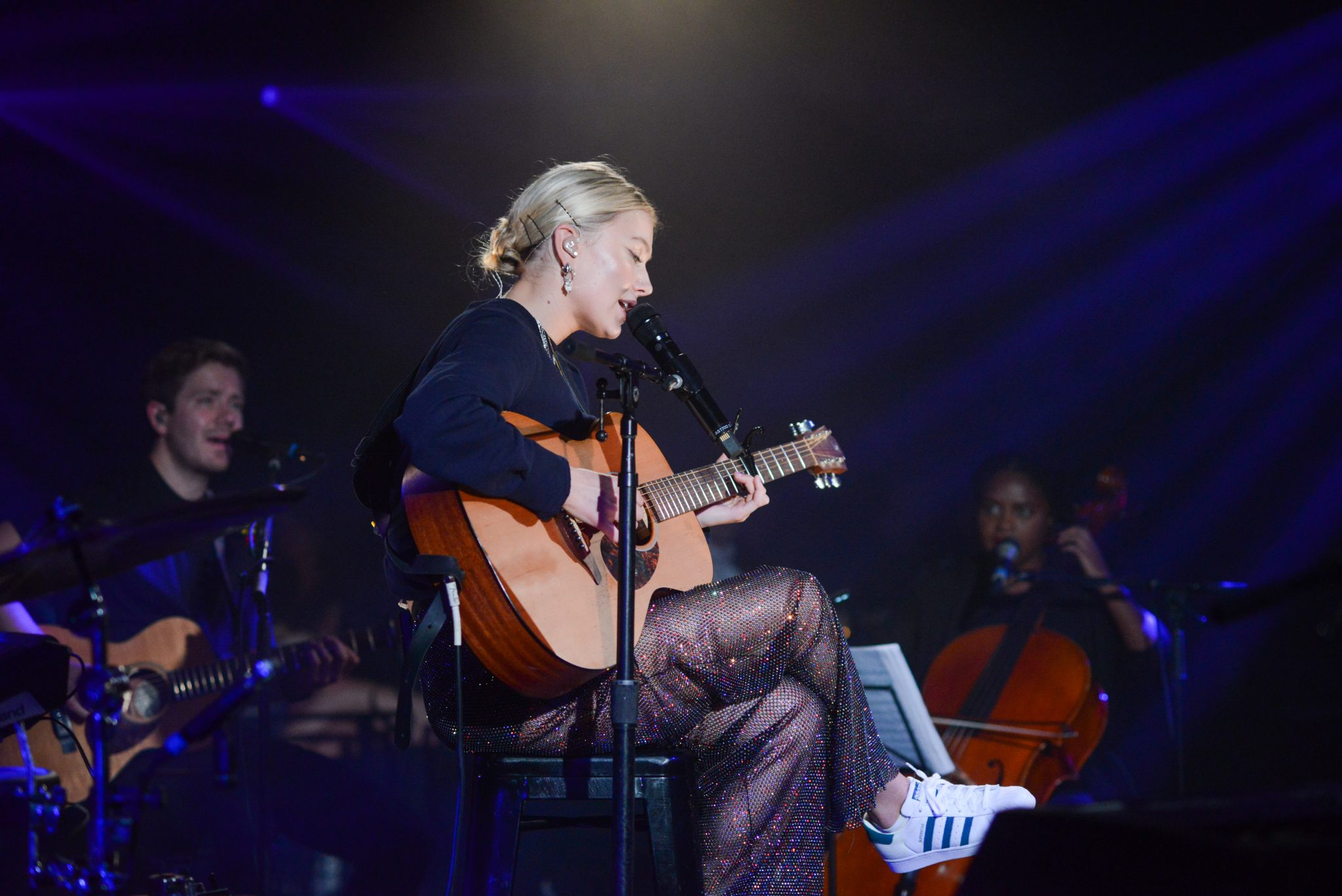 Astrid S performed a show on her Stripped Down Tour at Le Poisson Rouge in New York City on Tuesday, September 17, 2019. Photograph by Casey Kelbaugh