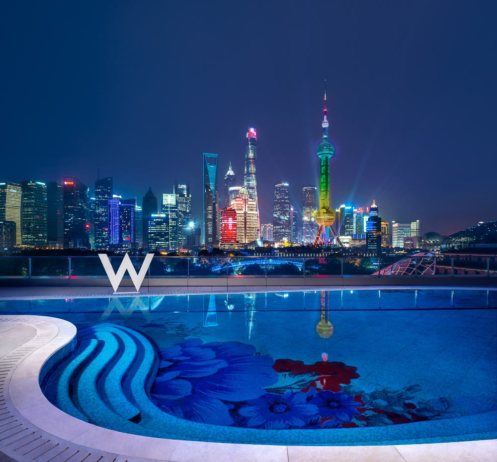 WET Swimming Pool at Night