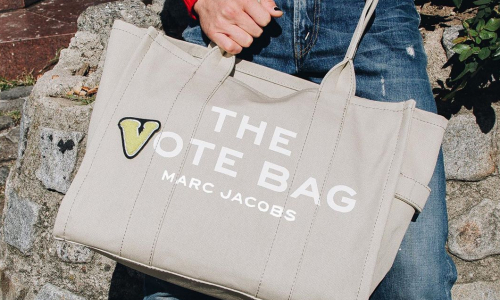 """thumbnail imaage of Marc Jacobs Makes The """"Vote"""" Bag"""