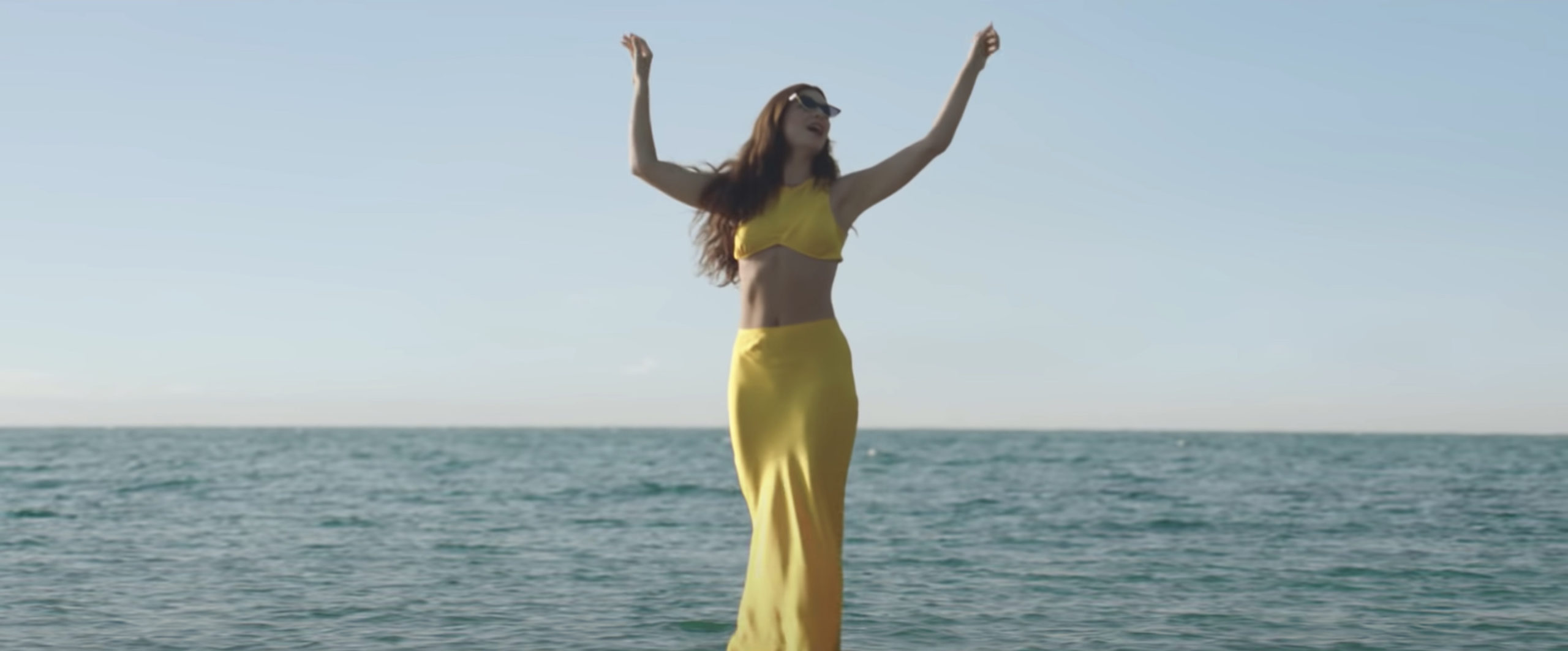 """Lorde in her music video for """"Solar Power,"""" directed by Joel Kefali and Ella Yelich-O'Connor."""